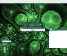 Dream green style psd desktop background