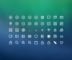 45 Kind line icons psd material