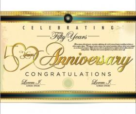 Anniversary celebrating illustration design vector 02