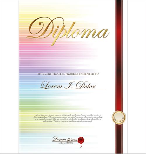 Best Certificate Template Design Vector 02 Free Download