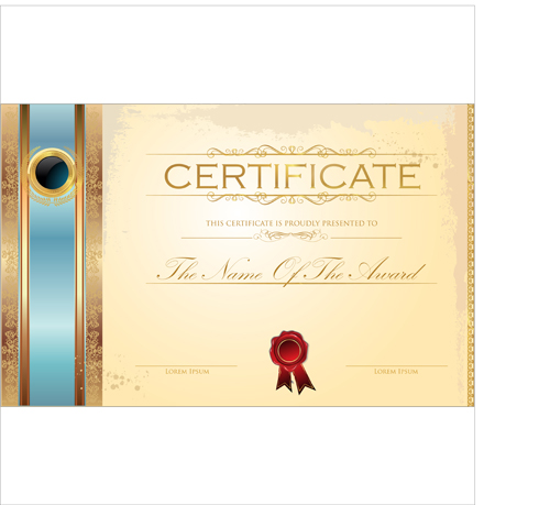 Great Best Certificate Template Design Vector 05  Certificate Designs Templates