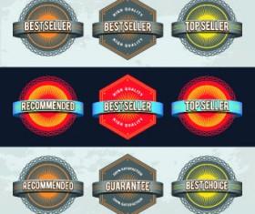 Best retro labels design vector 01