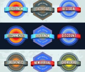 Best retro labels design vector 02