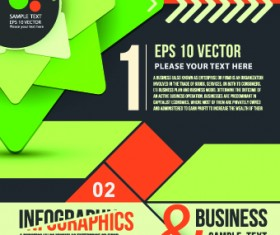 Business infographic brochure cover vector 02