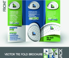 Business flyer and cover brochure design vector 03