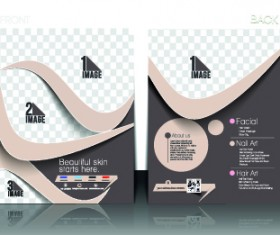 Business flyer and cover brochure design vector 04