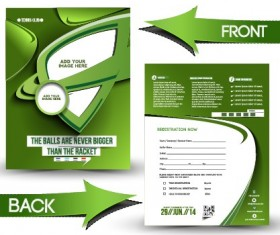Business flyer and cover brochure design vector 08
