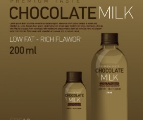 Creative Chocolate milk advertising cover vector 05