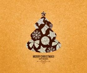 Christmas tree menu background vector