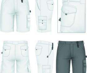 Men clothes design template vector set 05