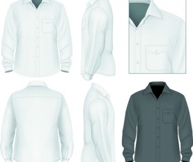 Men clothes design template vector set 07