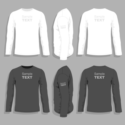 Men clothes design template vector set 09