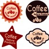 Best vintage coffee labels vector 03