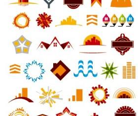 Colored abstract vector logos 01