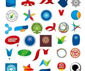 Colored abstract vector logos 02
