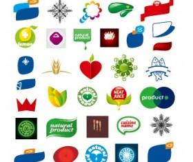Colored abstract vector logos 03
