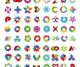Colored abstract vector logos 05