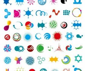 Colored abstract vector logos 06
