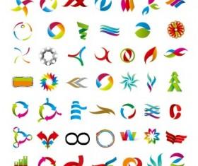 Colored abstract vector logos 07