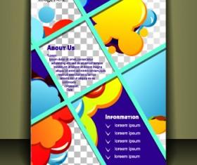 Cover brochure design vector set 01