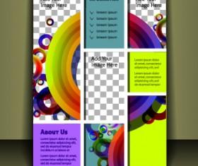Cover brochure design vector set 03