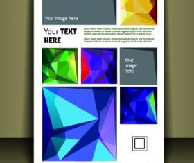 Cover brochure design vector set 04