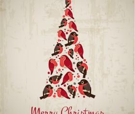Creative Christmas tree Xmas background vector 02