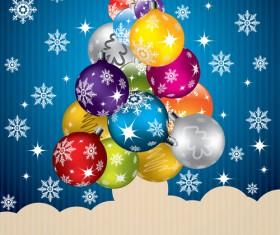 Creative Christmas tree Xmas background vector 03