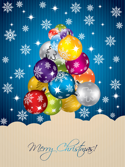 Creative christmas tree xmas background vector 03