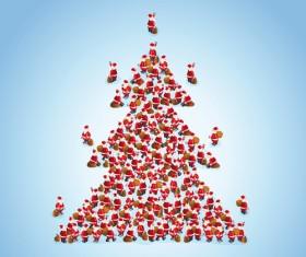 Creative Christmas tree Xmas background vector 04