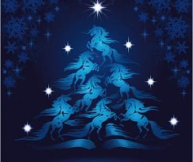 Creative Christmas tree Xmas background vector 05