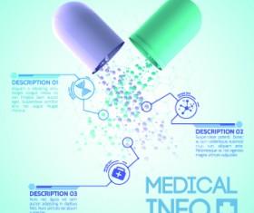 Creative Medical info design vector 01