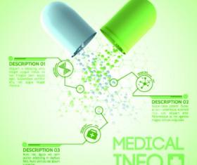 Creative Medical info design vector 02