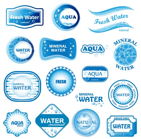 Free EPS file Creative Water elements logos vector 01 download