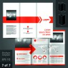 Creative business brochure and booklet design vector 03