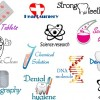 Creative medical elements logos vector