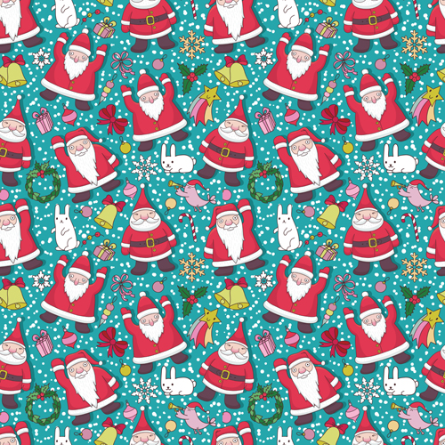 Cute Christmas seamless pattern vector 10 - Vector Christmas ...