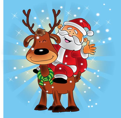 Cute cartoon christmas santa - photo#13