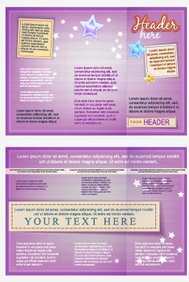 Delicate brochure design template vector 02