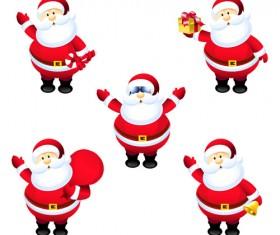 Different Santa Claus design vector 03