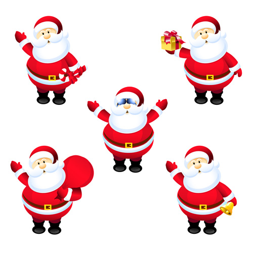 different santa claus design vector 03 - Free Santa Claus Pictures
