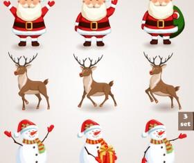 Different Santa Claus design vector 04