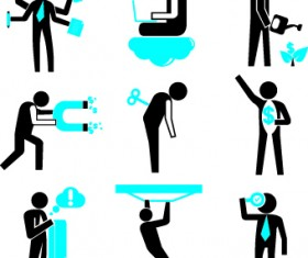 Different business people logos design vector set 01