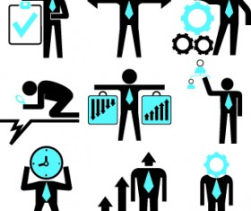 Different business people logos design vector set 02