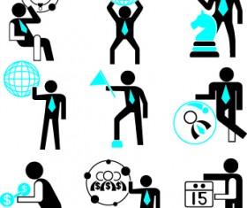 Different business people logos design vector set 03