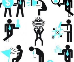 Different business people logos design vector set 04