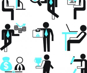 Different business people logos design vector set 05