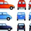 Different car design vector material