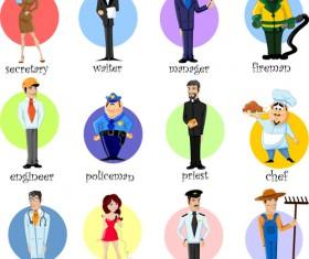 Different professions design elements vector 02