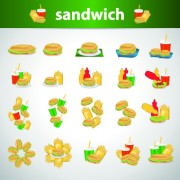 Link toDifferent sandwich icons vector